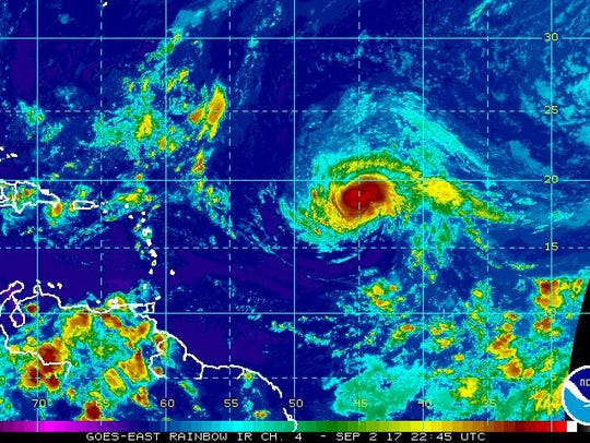 Hurricane Irma 5 p.m. update Saturday, Sept. 2, 2017.