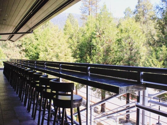 The Idyllwild Brewpub's expansive patio overlooks the