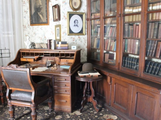 Frederick Douglass' library, where he wrote his auto-biography.