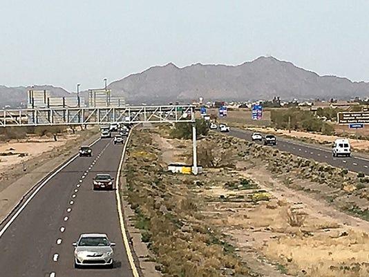 I-10 3 lanes to Tucson