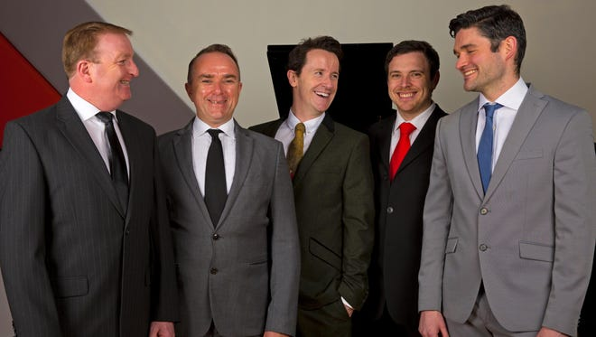The Five Irish Tenors perform Wednesday at Binghamton University's Anderson Center.