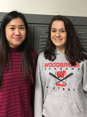 Rose Chung (left) and Katie Forbes are the winners of our holiday video contest.