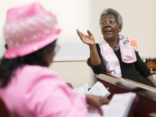 Gloria Rice leads Sunday school during Friendship Missionary