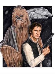 """Star Wars"" illustration by Marty Granius"
