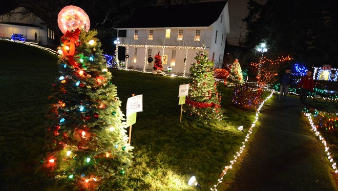 The Willamette Heritage Center will glow in holiday colors for Magic at the Mill happening Dec. 19 through 23.