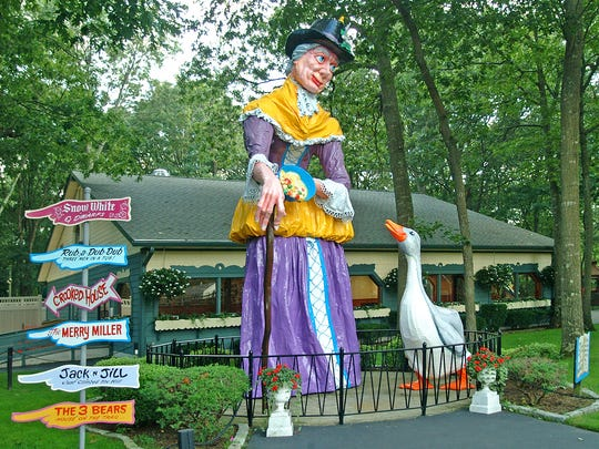 Mother Goose welcomes visitors to the family-owned Storybook Land in Egg Harbor Township.