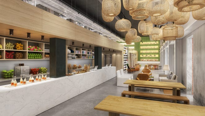 """The Asbury's front desk and check-in area will be called """"The Counter"""" and has a grab-and-go kitchen, coffee and a retail store."""
