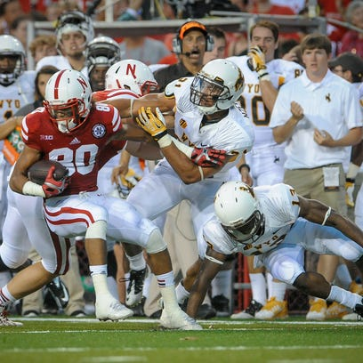 LINCOLN, NE - AUGUST 31: Wide receiver Kenny Bell #80