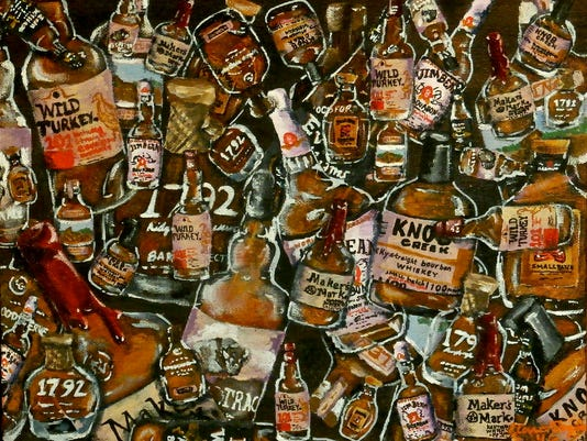 636257051948055995-Kaviar-Forge-Gallery-The-Next-Generation-Elizabeth-Clare-Taylor-12.5x15.5in-acrylic-on-canvas-board-50-Bottles-of-Bourbon-on-the-Wall-200.jpg