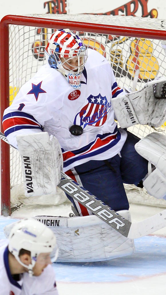Amerks goalie Andrey Makarov was recalled by the Sabres