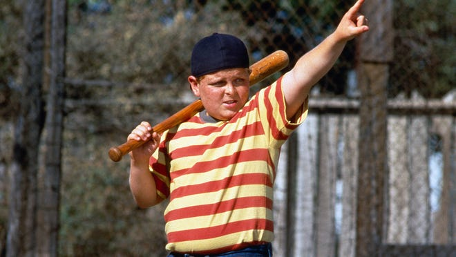 "This film image released by 20th Century Fox shows Patrick Renna as Hamilton ""Ham"" Porter in a scene from the 1993 film ""The Sandlot."" The iconic film is celebrating it's 20th anniversary. Members of the cast and crew are returning to Utah for events on July 19-20, including an outdoor screening of the movie at Spring Mobile Ballpark. (AP Photo/20th Century Fox) ORG XMIT: NYET328"