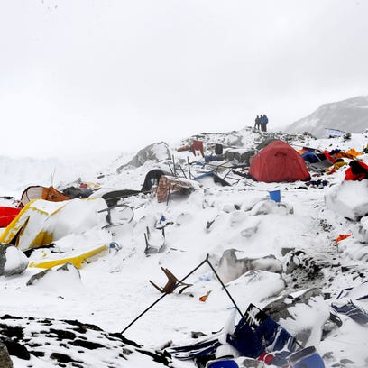 The basecamp at Mount Everest