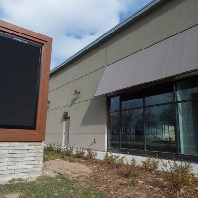 The digital signage at Foothills Mall was turned off