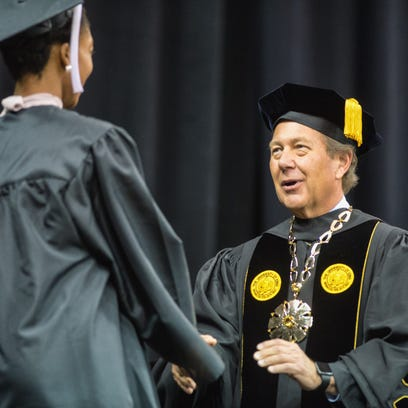 In this file photo from 2015, UI President Bruce Harreld