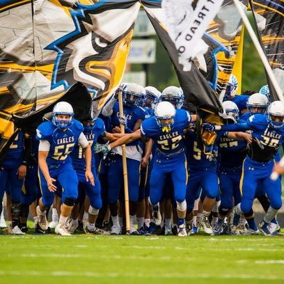 The Eastside Eagles host the Woodmont Wildcats as part