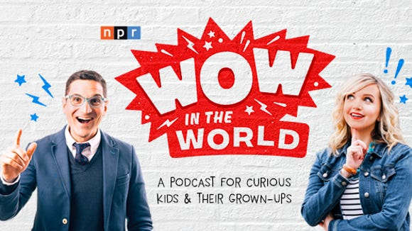 Guy Raz, left, and Mindy Thomas, right, co-host the