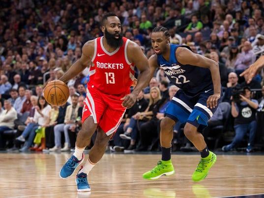 NBA: Playoffs-Houston Rockets at Minnesota Timberwolves