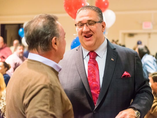 Vineland mayoral candidate Anthony Fanucci meets with