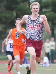 Milford junior Gunnar Gustafson won the 400-meter dash