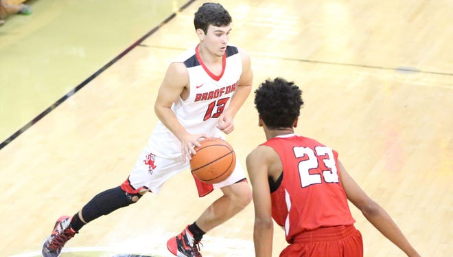 Bradford's Kobe Eddings is in  his fourth year playing varsity basketball for the Red Devils.