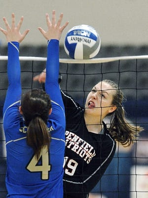 Penfield's Emma Stoltz Stoltz (pictured) and teammate Abby Beecher were named to the state's all-tournament team for Penfield.