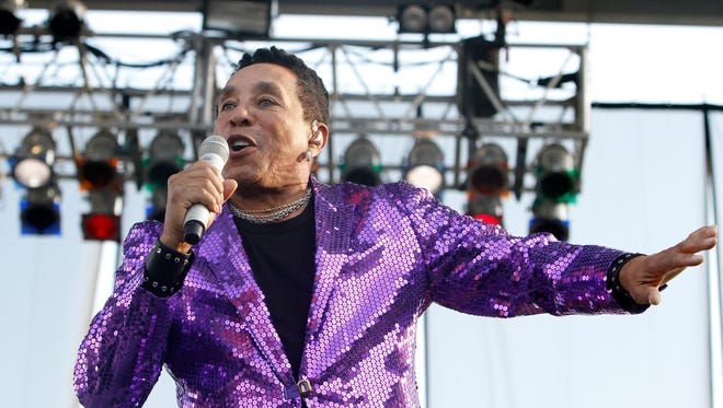 Smokey Robinson performs during MusicFest XXX at the Murphy Arts District Amphitheatre in El Dorado, Ark., on Sunday, Oct. 1, 2017. (Terrance Armstard/The El Dorado News-Times via AP) ORG XMIT: ARELD