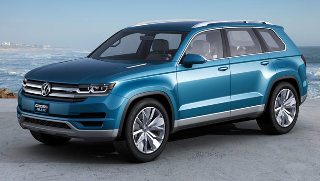 VW says it is considering replacing the discontinued Routan minivan with a 7-passenger SUV based on the CrossBlue concept car at recent auto shows.