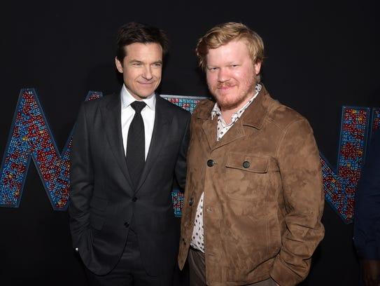 Stars Jason Bateman (left) and Jesse Plemons attend