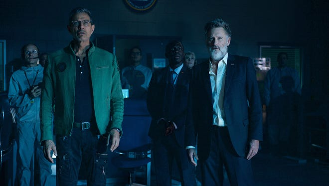 David Levinson (Jeff Goldblum) and former U.S. president Thomas Whitmore (Bill Pullman) make a shocking discovery in 'Independence Day: Resurgence.'