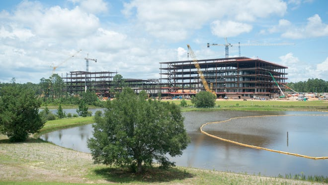 Navy Federal continues to expand with its newest construction on its campus in Pensacola on June 2, 2017.
