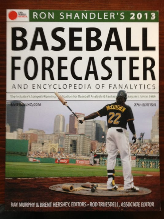 The 2013 Baseball Forecaster likely will be on sale again this year at the 2013 fantasy baseball spring training event at Martin Library in York. See if you can get your copy signed by Ron -- it's good luck. (Photo by Will Hanlon)
