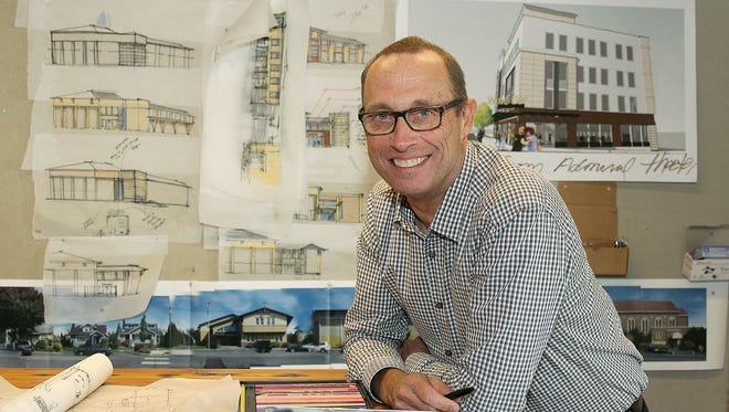 Steve Rice is an architect,, LEED AP Principal at Rice, Fergus, Miller in Bremerton. He founded the company 30 years ago.