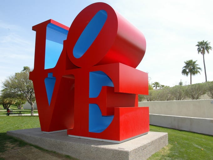 """LOVE"" SCULPTURE: Grab onto some love and visit the"