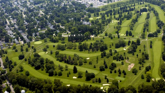Moundbuilders Country Club Great Octogon Earthworks in a 2010 file photo.