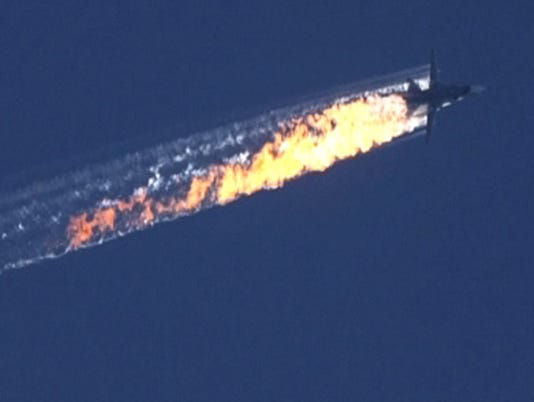 EPA TURKEY SYRIA RUSSIA WARPLANE DOWNED WAR WAR SYR