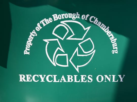 Recycling carts at Chambersburg service center are seen Wednesday, Jan. 13, 2016. Borough residents will  be able to collect the roadside bins starting February 6.