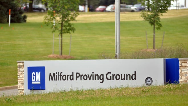 Officials from the General Motors Milford Proving Ground reported a sewage spill Monday at the Milford site.