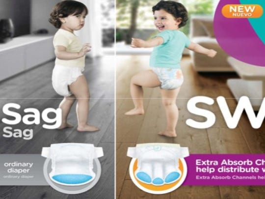 Pampers improved diapers to prevent sagging.