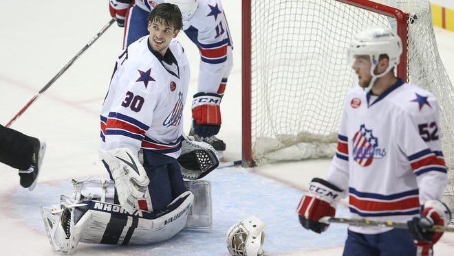 Goalie Matt Hackett will make his second start of the season when the Amerks play at San Antonio on Saturday. In his season debut last Saturday, Hackett gave referee Terry Koharski a perplexed look after Oklahoma City's Matthew Ford bowled him over in the goal crease.