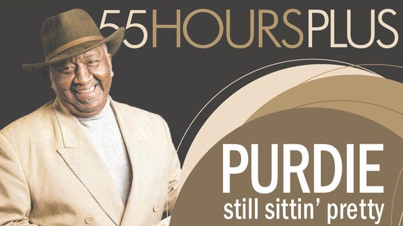"""Bernard """"Pretty"""" Purdie on the cover of The News Journal's 55 Hours Plus section on Aug. 8, 2014."""