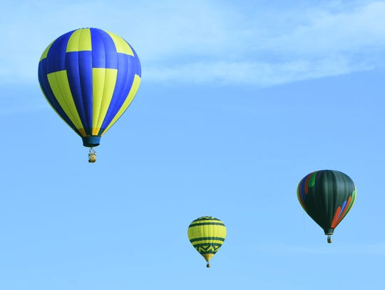 Balloons fly during the 2015 Hudson Valley Hot-Air