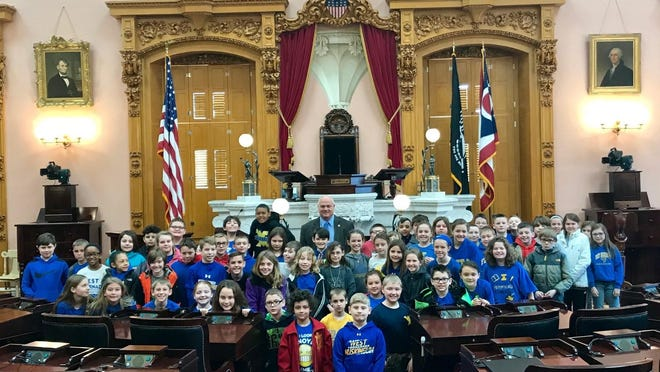 Fourth-grade students from West Muskingum Elementary School took a trip to the Ohio Statehouse before the end of the school year, where they met with Sen. Troy Balderson and Rep. Brian Hill. Students go every year to tour the statehouse and see how government works and operates firsthand.