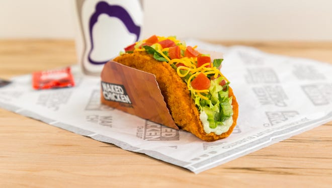 The Taco Bell taco with a fried chicken shell.
