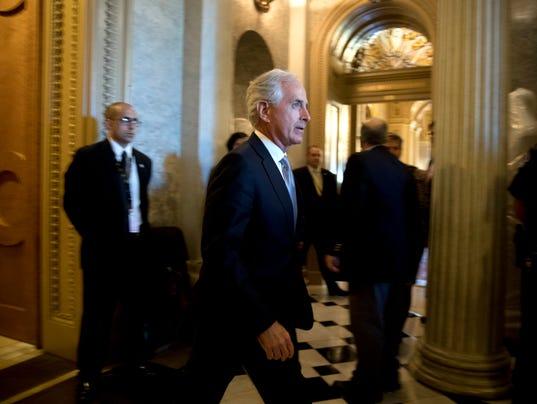 Sen. Bob Corker says he will vote against Senate Republican tax-reform package