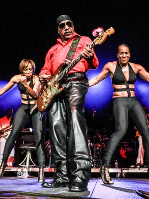 Ernie Isley of The Isley Brothers, performs at Banker's Life Fieldhouse.