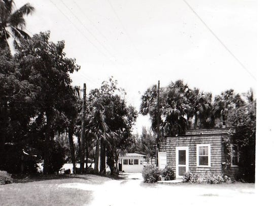 The DuBois Fishing Camp  is pictured in years past, where DuBois Park is now located, in Jupiter.