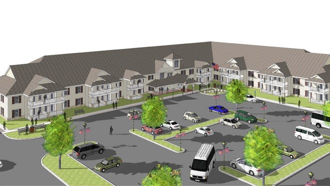 This rendering shows the independent senior living apartment complex proposed for 910 Maple Ave. in Elmira.