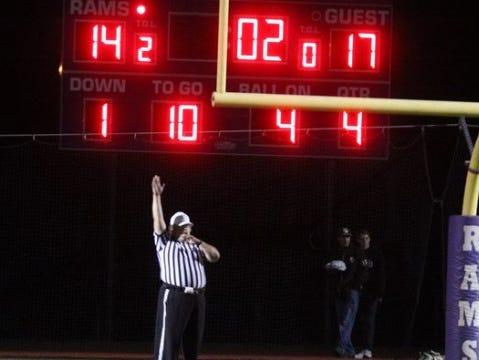 Clarkstown North scoreboard.
