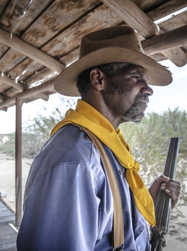 Portrait of Reggie Garnett as Seargeant Stanton, Buffalo Soldier, in Copper Wind, a western film shot entirely in Arizona with a completely local crew and cast, near Wild Horse Pass Blvd.