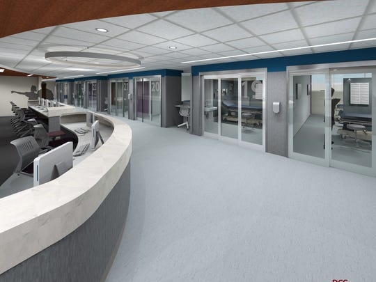 A redesigned and revamped Emergency Department with private rooms is part of the Robert Wood Johnson University Hospital in New Brunswick's expansion project. RWJUH is undergoing a two-year $60 million Emergency Department expansion that will see state-of-the-art advancements and improved privacy, access and flow for patients.